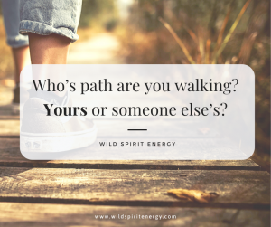 Who's path are you walking