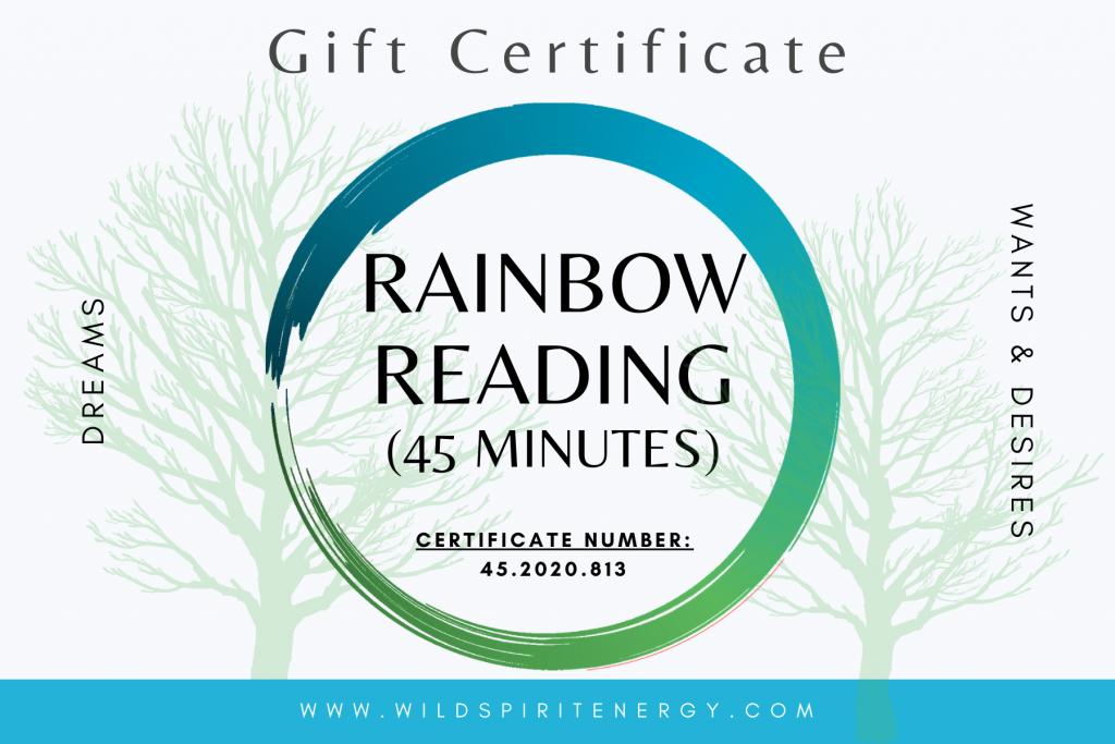 Gift Card rainbow reading